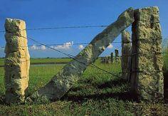 limestone fence posts--common throughout Kansas