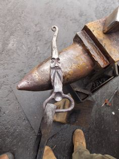 Hand Forged Wizard Bottle Opener by TheMarmotDen on Etsy Metal Art Projects, Welding Projects, Metal Crafts, Blacksmith Shop, Blacksmith Projects, Horseshoe Crafts, Horseshoe Art, Metal Shop, Sticks And Stones