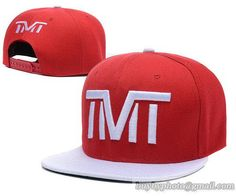 TMT--The Money Team Snapback Hats Adjustable Caps Red White 131