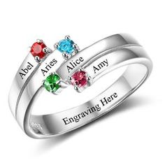 jewelry for mom, personalized gifts, personalized gift ideas for mom, personalized gift for grandma, personalized birthstone ring, personalized silver ring, personalized names ring , personalized name ring , anniversary gift ideas #peronalized #gift Sister Rings, Sister Jewelry, Mothers Day Rings, Mother Rings, Diamond Promise Rings, Diamond Wedding Bands, Bridal Rings, Wedding Rings, Anniversary Jewelry