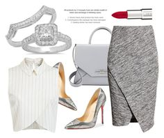"""""""WorkWear"""" by dazzlingrock ❤ liked on Polyvore featuring Christian Louboutin, Givenchy, Miss Selfridge, H&M, WorkWear, Silver, office and officewear"""