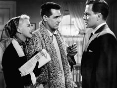"""Ginger Rogers, Cary Grant, and Hugh Marlowe in """"Monkey Business"""" (1952)"""