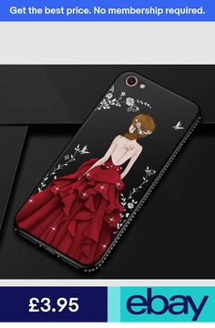4bb86c068e3 Fashion Painted Embossed Girl with Diamond Case Cover For Apple iPhone X 8 7