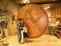 Abe Would Be Amazed at Giant Penny Sculpture   Ripley's Believe It or Not!