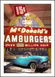 Antique McDonald's neon sign on display at The Henry Ford Museum