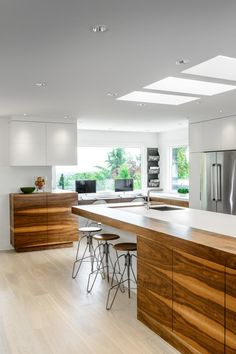 Contemporary kitchens blend neutral colors and clean lines, often juxtaposed with surprising or bold accents. Many new construction and renovated kitchens boast these modern features and are a top pick of our Leverage Partners. Here's a taste of inspiration from some of the...