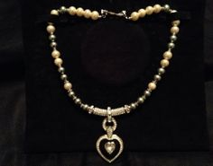 Vintage Authentic Christian Dior Pearl & Crystal Necklace Signed/Stamped. - http://designerjewelrygalleria.com/christian-dior/vintage-authentic-christian-dior-pearl-crystal-necklace-signedstamped/