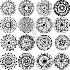 A set of beautiful mandalas and lace circles Stock Photo - 16281009