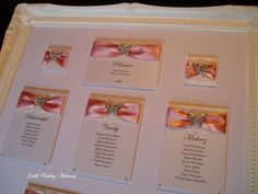 Seating Plan with Diamante Butterflies. Wedding Table, Wedding Reception, Wedding Day, Wedding Favours, Wedding Stationery, English Country Weddings, Table Names, Menu Cards, Table Plans