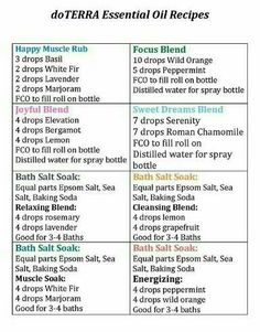 Popular doTerra Essential Oil Recipes Feel free to message me with any questions! #SynergisticHealthSolutions .org http://www.mydoterra.com/LLC