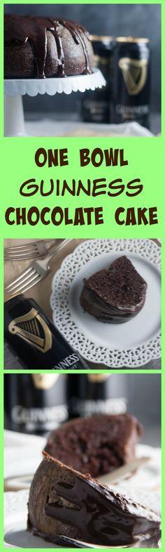 One Bowl Guinness Chocolate Cake - Boston Girl Bakes