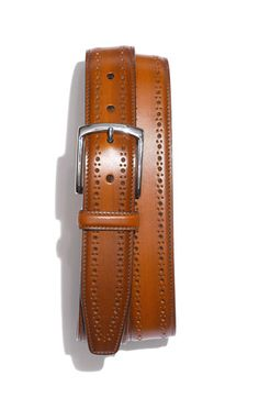 Maybe a little pricey for a belt, but you know it will last forever. Allen Edmonds 'Manistee' Brogue Leather Belt | Nordstrom