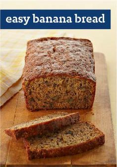 Easy Banana Bread – The name says it all. Perfect for potlucks, this healthy living recipe is ready for the oven in just 15 minutes.