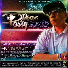 Este sabado 3 de mayo #pikasparty en @gangstaclubb #bello invita @CORONASTREET @mastojc
