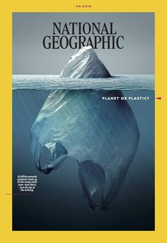 National Geographic magazine has launched a campaign titled 'Planet or Plastic' to raise awareness about plastic pollution and the threat it poses to the National Geographic Cover, Fotografia Social, Magazin Covers, Plakat Design, Cinema Tv, Cool Magazine, Plastic Pollution, Ocean Pollution, Nature