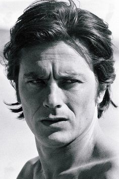 Alain Delon I Movie, Movie Stars, Jean Luc Godard, Old Flame, Violet Eyes, Pictures Of People, Hollywood Actor, Interesting Faces, Film