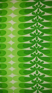 Vintage 70s Bold Green Patterned Cotton Fabric