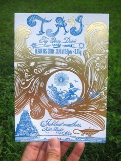 The Beauty of Letterpress: TAJ birth announcement