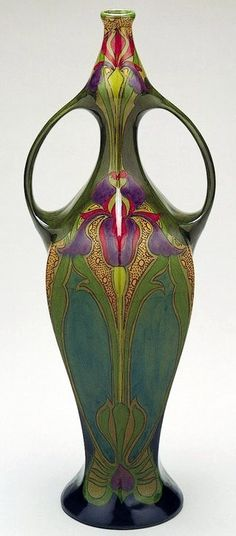 Gouda style vase, Antonius Hendricus Limburg Zuid-Holland