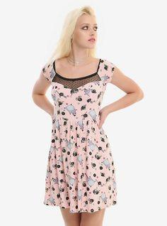 Her Universe Studio Ghibli Spirited Away Soot Sprite Pink Dress, MULTI