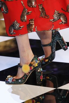 Dolce & Gabbana F/W 2016. NEVER WANTED TO BE A CAT LADY MORE IN MY LIFE.