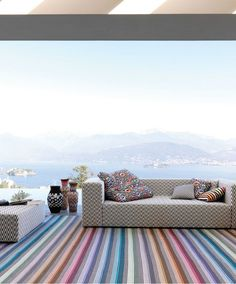 Striped polyester #rug RIOHACHA - Missoni Home @missonihome