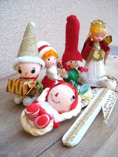 Collection of Vintage Christmas Ornaments by sofralma