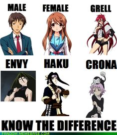 The Basic Genders of Anime