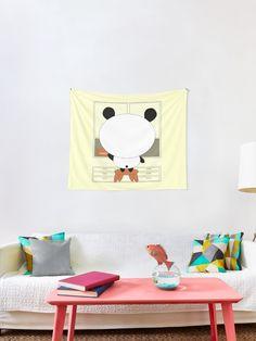 'Motivational panda' Tapestry by demonkourai Tapestries, Panda, Motivational, Unique, Home Decor, Hanging Tapestry, Decoration Home, Room Decor, Tapestry