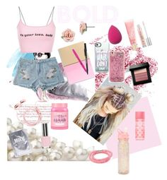 """""""She's Bold"""" by eliyanakubelis on Polyvore featuring Obsessive Compulsive Cosmetics, 1928, Lime Crime, Paper Mate, Casetify, ban.do, Topshop, Lapcos, Bobbi Brown Cosmetics and Lano"""