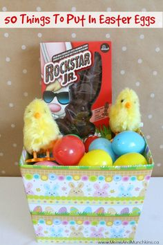 What To Put In Easter Eggs: 50 Things To Put In Easter Eggs!