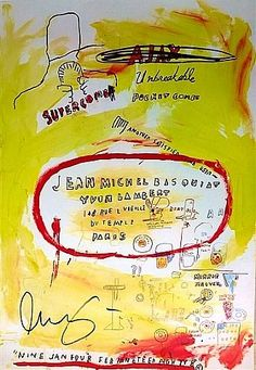 jean-michel basquiat artwork   Œuvre Supercomb de l'artiste Jean-Michel Basquiat est ...
