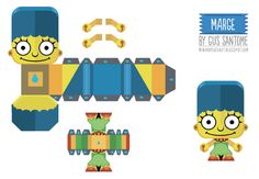 Blog_Paper_Toy_papertoys_Simpsons_Marge_template_preview