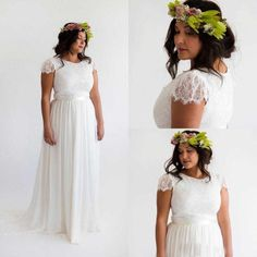 2016 Hot Lace And Chiffon Wedding Dresses For Plus Size Vestidos Novia Boho Court Train Beach A Line Long Robe De Mariee Noire Dresses Best Dresses Online From Dejuncloth, $143.99| Dhgate.Com