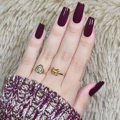 Pin by Sheilla Nixon on Unhas Elegant Nails, Classy Nails, Stylish Nails, Trendy Nails, Simple Acrylic Nails, Best Acrylic Nails, Simple Nails, Glam Nails, Cute Nails