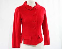 Hey, I found this really awesome Etsy listing at https://www.etsy.com/listing/242343362/size-10-classic-red-1950s-suit-jacket