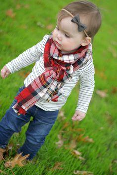 Toddler Blanket Scarf