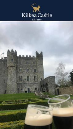 What better way to enjoy the weekend than with a Guinness and a stroll through the Castle gardens! #irishcastle #castle #exploreireland #visitireland