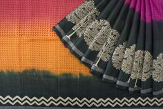 Handprinted Tussar Saree