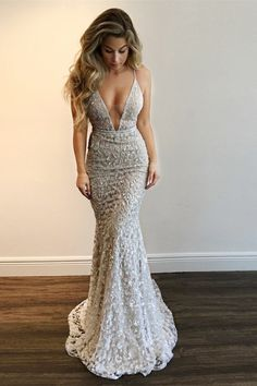 Sexy Backless Lace Beaded Mermaid Long Evening Prom Dresses, Cheap Custom Sweet … Sexy Backless Lace Beaded Mermaid Long Evening Dresses, Cheap Custom Sweet 16 Dresses, 18566 I Sweet 16 Dresses, Cheap Prom Dresses, Ball Dresses, Elegant Dresses, Pretty Dresses, Beautiful Dresses, Long Dresses, Silver Prom Dresses, Dresses Dresses