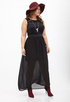 This can be accessorized in a very sexy way - not the plain look in the pic - Chiffon Maxi Dress #F21Plus