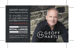 The updated business cards we designed for Geoff Hartle as part of his digital strategy project. Sales Representative, Digital Strategy, Business Cards, Marketing, Projects, Design, Log Projects, Visit Cards, Carte De Visite