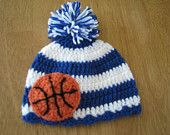 UK Crochet Hat, Wildcats Team Pride Hat, UK Crochet Basketball Hat, Basketball Beanie,Team Spirit Hat, Blue & White Basketball Hat, 24.97