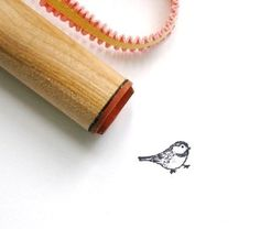 Small  Bird Rubber Stamp.
