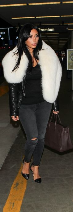 Kim Kardashian's 2015 street style includes lots of black and white!