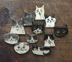 Ceramic Clay, Ceramic Painting, Cute Crafts, Crafts To Make, Clay Cats, Ceramic Figures, Ceramic Animals, Dark Art Illustrations, Paper Clay