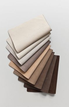 Introducing Buck. An exquisite nubuck leather in a refined palette of neutrals, lightly buffed on the grain to give a luxurious velvety texture. Buck gets better with age, developing a smooth sheen patina and rich character over time. We are in leather love.