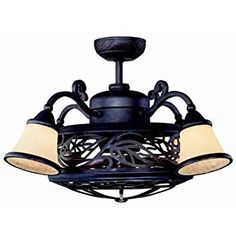 Savoy House 14-260-FD-16 Bay St. Louis Fan D' Lier, Antique Copper Finish with Burled Cherry Blades with Tinted Scavo Glass Shades - Ceiling Fans - Amazon.com