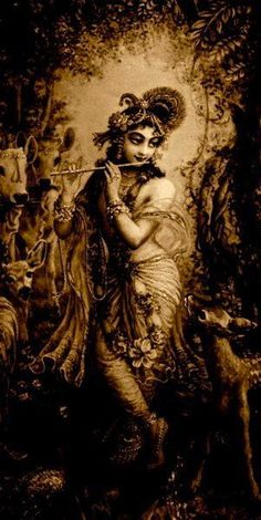 "beyondsamsara: "" ""Krishna is my best friend. He is the background of everything."" -Swami B.R. Sridhara """