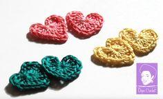 PETITE HEART Crochet Stud Earrings
